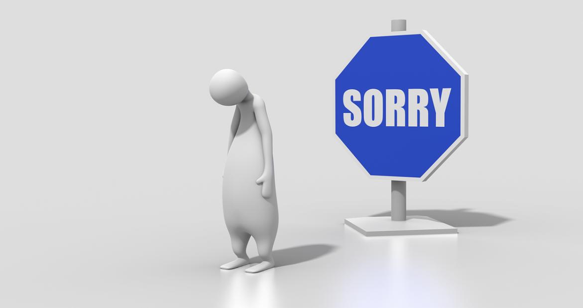 omluva za chybu
